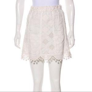 Calypso St. Barth - embroidered pom pom mini skirt